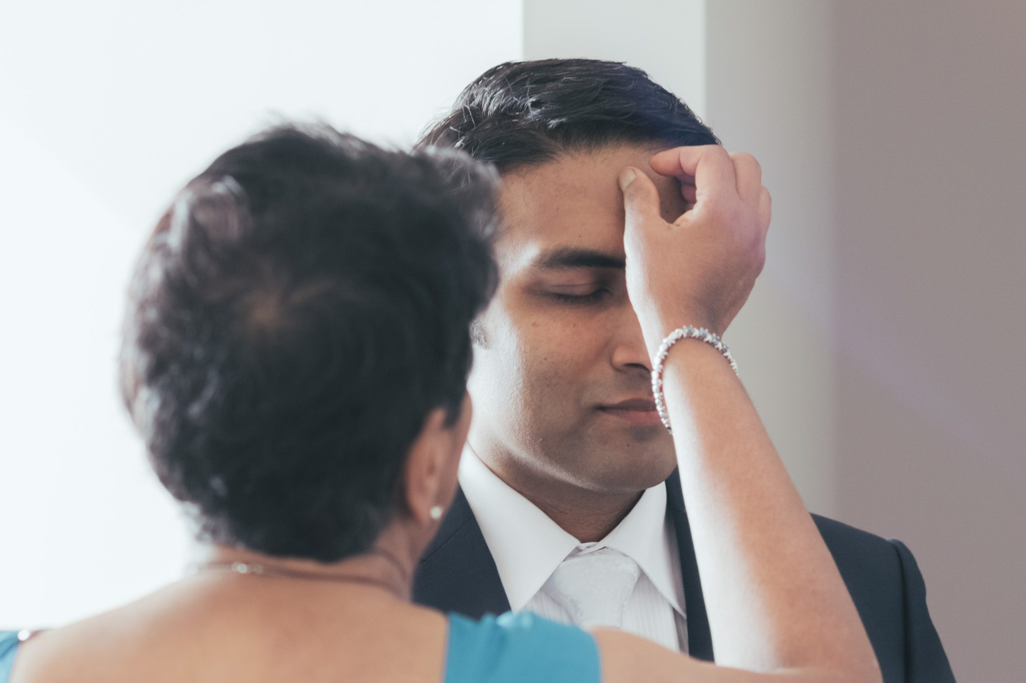 A traditional Sri Lankan blessing for the groom before his wedding.