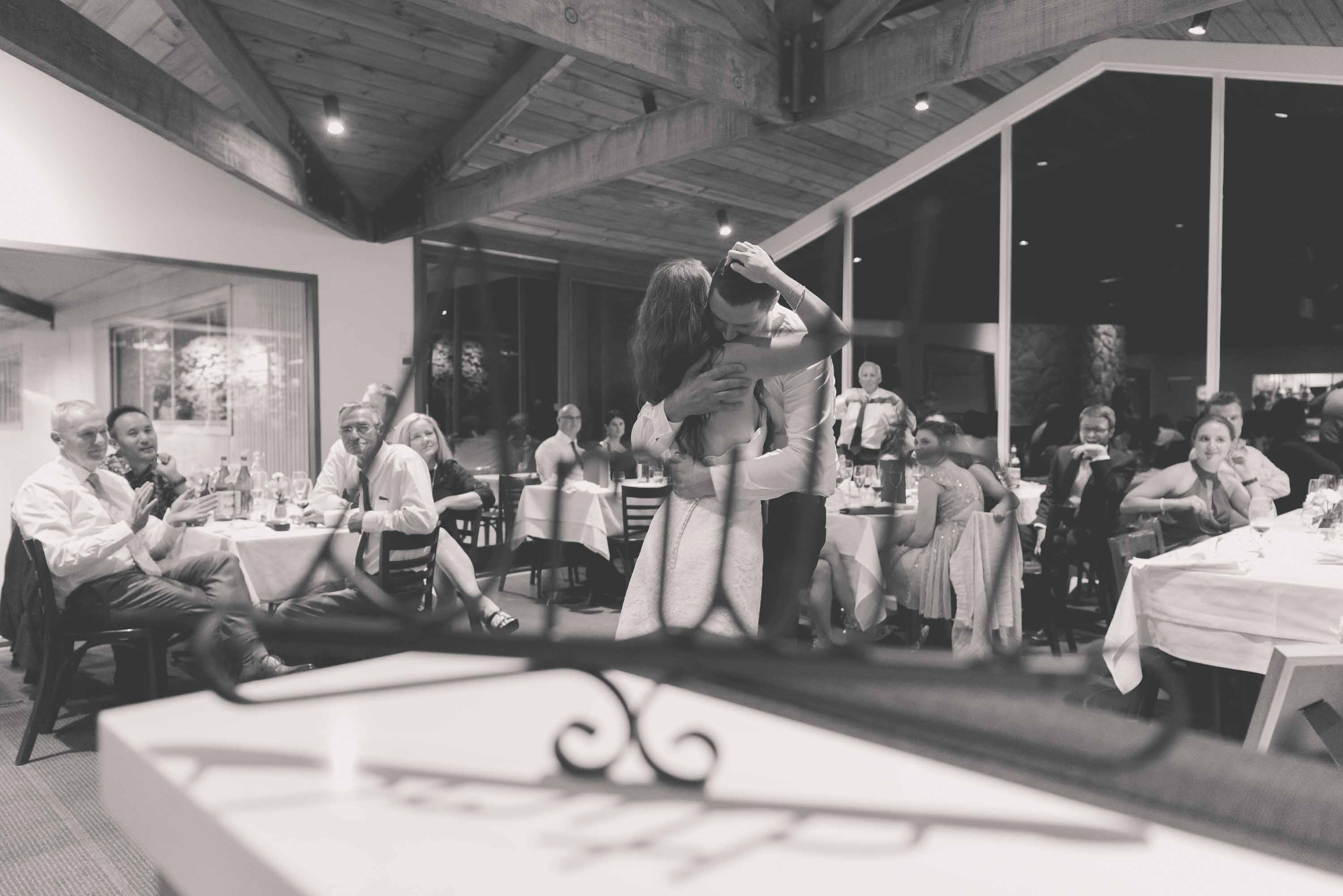 First dance at a Mornington Peninsula wedding at paringa estate