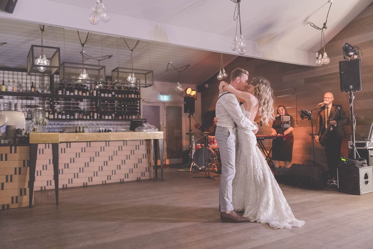 Mornington Peninsula wedding photography at Stillwater Estate - The couples first dance.