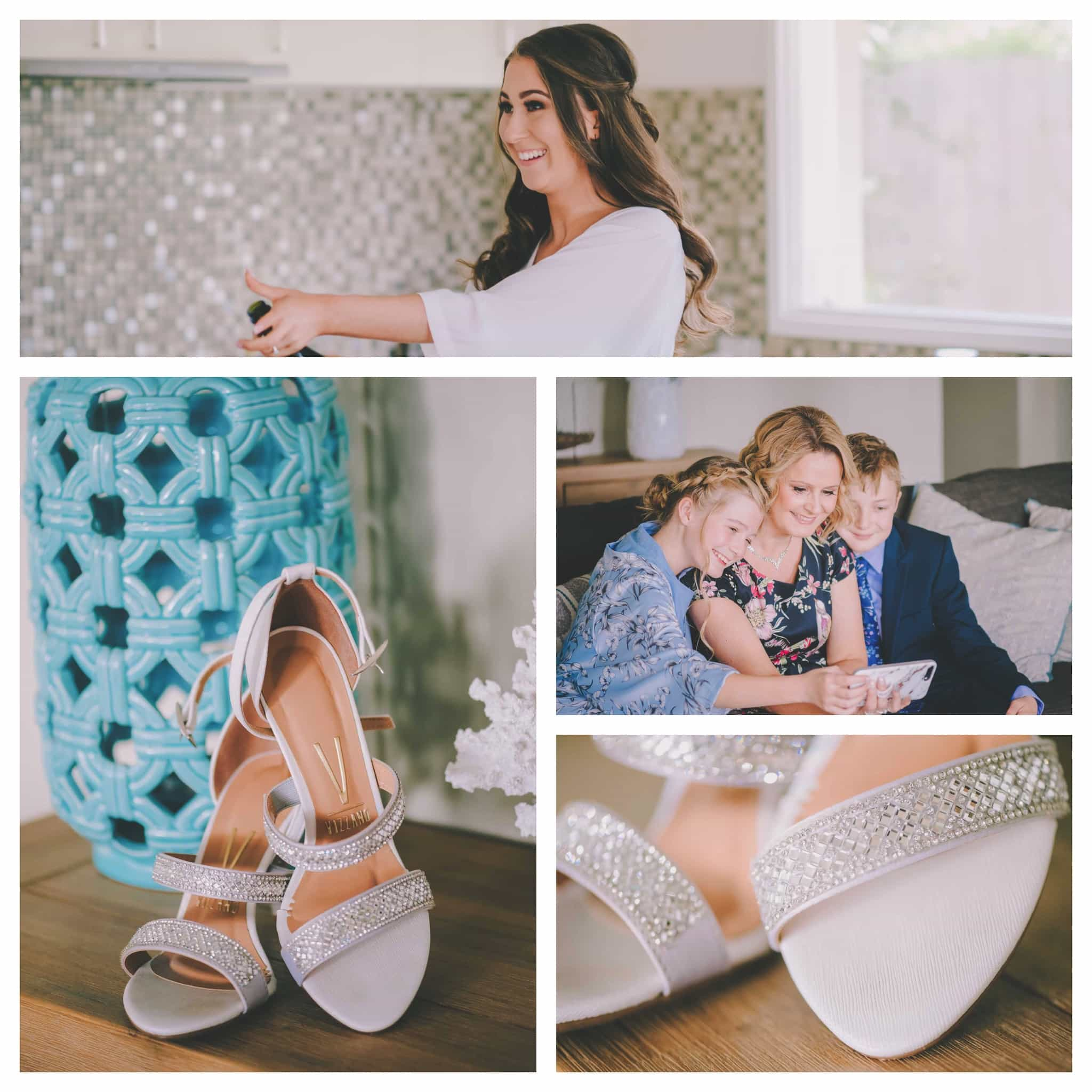 Images of getting ready for a Sorrento Beach wedding by Pause The Moment wedding photography.